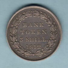 Great Britain. 1812 George 111 -  3 Shilling Bank Token.. 2nd Head Type.. VF/gVF