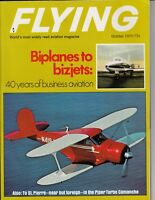 Flying Magazine October 1970 Biplanes To Bizjets Business Aviation , Piper / c4