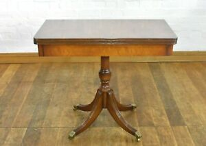 Antique style turn over flip top side hall console table - Chapmans Siesta