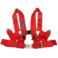 Slasher Racing 4 Point Latch & Link 1 Seat Belt Harness Red