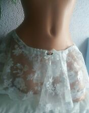 ❤LIMITED EDITION❤ GORGEOUS EMBROIDERED LACE SKIRTED PANTIES SISSY CD TV