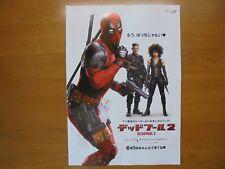 Deadpool 2 MOVIE FLYER mini poster Chirashi ver.2 Japan 30-4