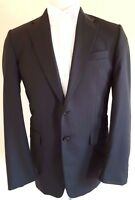 HICKEY Freeman SUIT Mens 40R Gray CHARCOAL Pinstripe 2 Button WOOL Man USA Size*