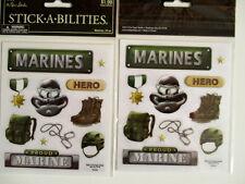 Paper Studio Pegatinas-Marines-Paquete de 2 Hojas en
