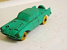 "Vintage Auburn Rubber Toy Car, 1958 4 1/2"" Long #506 Green, Fire Chief Car"