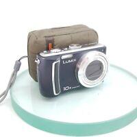Panasonic Lumix Blue DMC-TZ4 10x Zoom 8.1MP Leica Digital Superzoom Camera #945