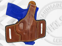 OWB Leather Slide Holster with Thumb Break  Fits  S&W M&P Shield 45 ACP
