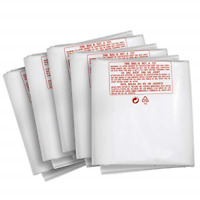 """Clear Plastic Dust Collector Replacement Bag 5 Pack 20"""" Diameter by 43"""" Long For"""