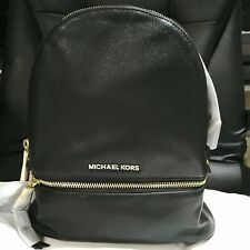MICHAEL KORS BACKPACK BAG RHEA SMALL LEATHER BLACK NEW with TAG