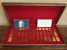 US Presidential Hamilton Mint Silver Ingots Coll. 38 Presidents 1oz Gold Plate