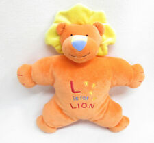 MARY MEYER BABY ORANGE PLUSH L IS FOR LION