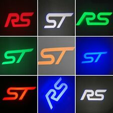 RJH FORD FOCUS MK2.5 & MK3 ST LOGO PROJECTOR PUDDLE LIGHTS ORANGE Edition
