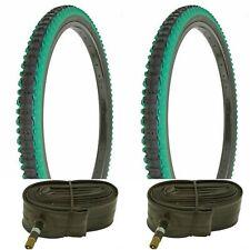 *New 700x35c Pair of Gum Wall Tires Tubes Road Fixie Bike Black//Gum 700c