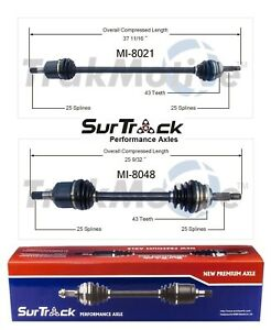 For Mitsubishi Galant Talon 2000 GTX AWD 2 Front CV Axle Shafts SurTrack Set