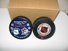 NHL Hockey 1st and 50th All Star Game held in Toronto Canada Puck