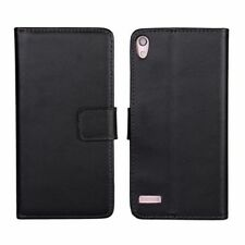 Leather Mobile Phone Wallet Cases for Huawei with Clip