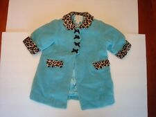 The Children's Place Girls Wool Coat Baby 6-9m Blue with Leopard 50% Off NWT New