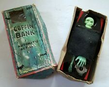 Vintage Coffin Bank With Original Box - 1960's Yone - Not Working - Wind Up Toy