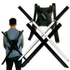 "Ninja Twin 27"" Katana Sword Set with Scabbards and Back Strap Collectible"