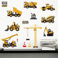 Truck Digger Construction Vehicles Wall Sticker Kids Decal Nursery Bedroom Decor