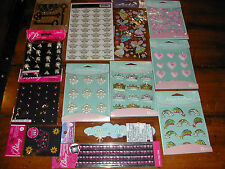 Scrapbook Disney GLITTER GIRLY GIRL PRINCESS DREAMS STICKERS Lot *60%OFF *FREESh