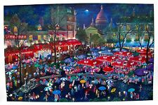 ALEXANDER CHEN A NIGHT IN MONTMARTRE Hand Signed Serigraph on CANVAS