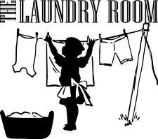 The Laundry Room Clothes Mother vinyl wall decal quote sticker Inspirational