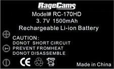 RAGECAMS Li-ion Battery 3.7v 1500ma For DRIFT HD HD170 Mini Stealth Black Orange