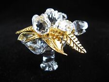 "Swarovski Crystal - WEDDING BOUQUET - MINT - 1 3/4"" Long - Gold Detail - #235248"