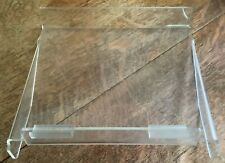 Lot Of 9 Clear Acrylic Slat Wall Shelves 10 X 12 Inch Retail Store Display