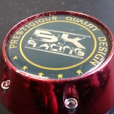 BK Racing 68 Mm a 63 mm Coche Rueda Centro Tapacubos Cubierta BK299 Oro Rojo