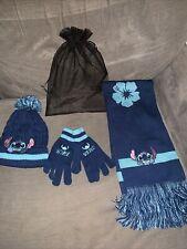 Disney Stitch Hat Scarf And Glove Set BNIB