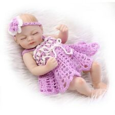 Mini 11'' Full Silicone Reborn Baby Doll Real Looking Girl Gift Lifelike Dolls