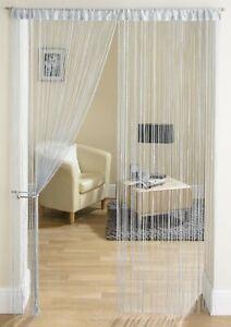 UK Hanging Beaded Curtain String Door Window Curtains Tassel Fly Screen Panel