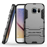 Shockproof Rugged Hybrid Armor Case Cover With Stand For Galaxy S7 S6 Edge+ Plus