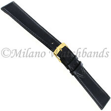 20mm Morellato High Quality Soft Genuine Leather Black Watch Band LONG 112