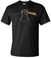 Thanos Infinity Stone Gauntlet PRISM Men's Black T-Shirt