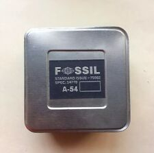 Vintage 2000 FOSSIL Watch Empty Collectible Tin Box A-54