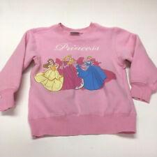 Disney Store Princess pink girls crewneck sweatshirt size small 5/6 belle aurora