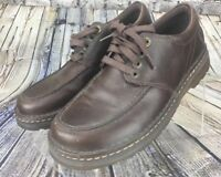 DR. MARTENS Oxfords Men's Vernon Brown Leather Air Cushioned Rubber Sole Sz 11