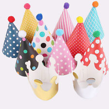 11pcs Stylish Crown Paper Cone Hats Happy Birthday Party Shimmer Fun Game Decor