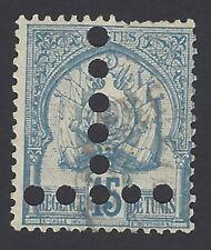 Tunisia 1888 15c Scott #4 with T = postage due perfin unused