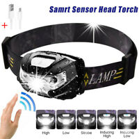 12000LM USB Rechargeable Hard Hat Headlamp LED Headlight Torch Flashlight
