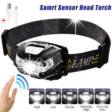 60000LM LED HeadLamp Motion Sensor USB Rechargeable Flashlight Headlight 5 Modes
