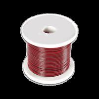 Câble Haut Parleur MEPLAT sous Gaine Noire Rouge 2 x 0.5 mm² Long 100 Métres