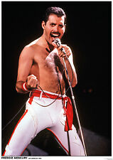 "Queen Freddie Mercury Los Angeles 1982 Uk Import Poster 23.5"" x 33"""