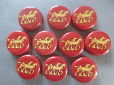"10 Q & A  CARLTON DRAUGHT "" Horses "" collectable BOTTLE TOPS"