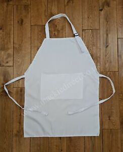 10 Sublimation White Children's Aprons 100% Polyester
