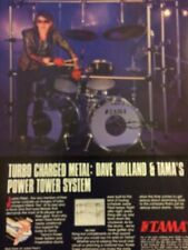 Judas Priest, Dave Holland, Tama Drums, Full Page Vintage Promotional Ad