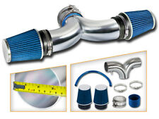 BCP BLUE 97-00 Corvette C5 5.7L V8 Dual Twin Air Intake System + Filter